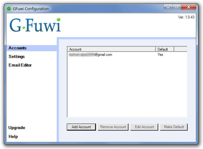 GFuwi Configuration