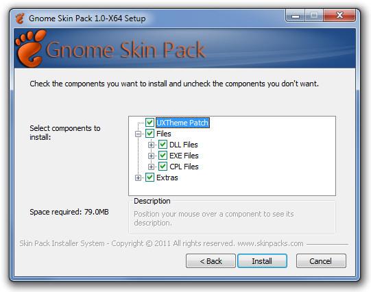 Gnome Skin Pack 1.0-X64 Setup Compnents