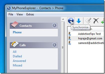 MyPhoneExplorer -  Sync