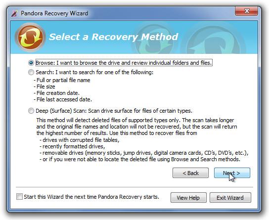 Pandora Recovery Wizard 3