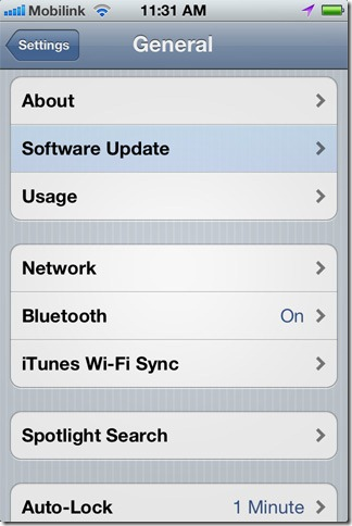 iOS 5 Over the Air Software Update