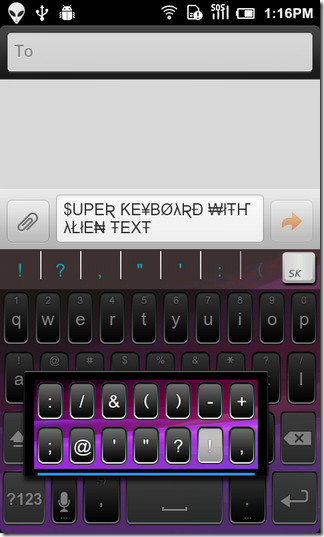 Super-Keyboard-Android-Alien-Text