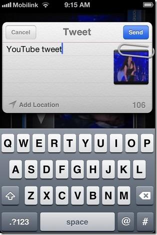 Video Tweet iOS 5