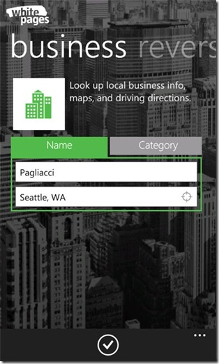WhitePages Business Search