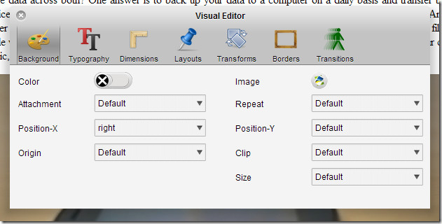 XeoCSS visual editor