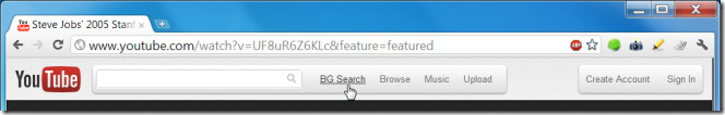 YT Background search button