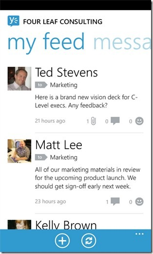 Yammer My Feeds