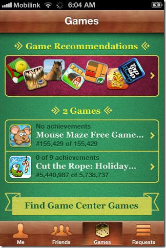 iOS 5 Game Center 5 - Games 1
