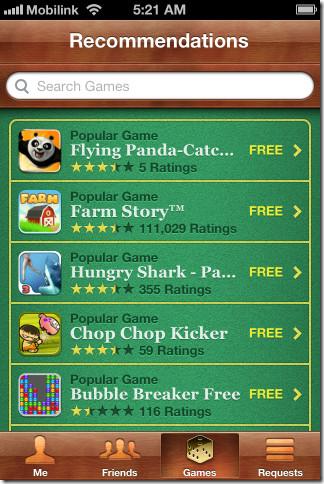 iOS 5 Game Center 5 - Games 2
