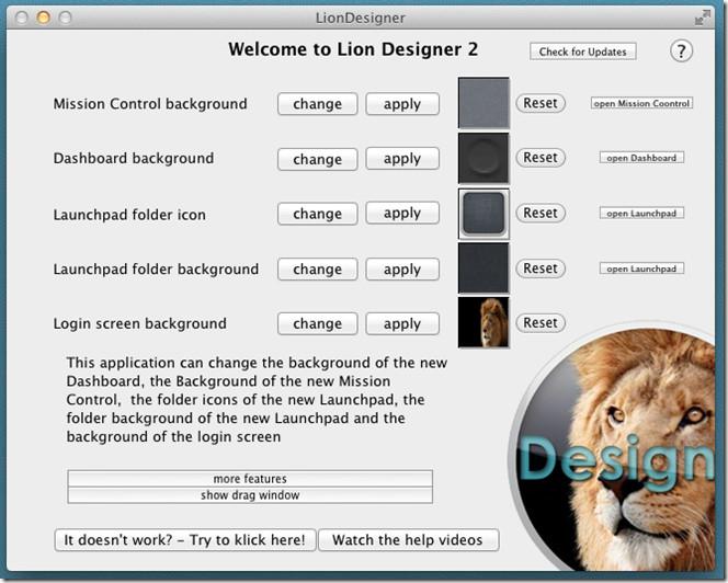 lion designer main