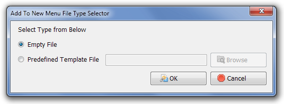 Add To New Menu File Type Selector