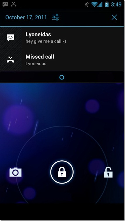 Android 4.0 ICS - 06 - Lock Screen Camera And Notifications