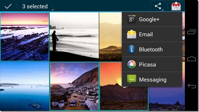 Android 4.0 ICS - 17 - Gallery Share