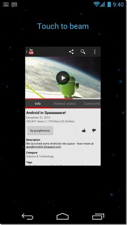 Android 4.0 ICS - 24 - NFC Beam