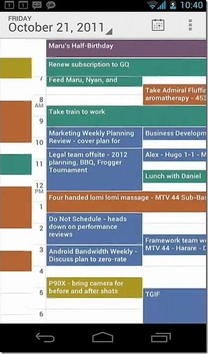 Calendar Swipe