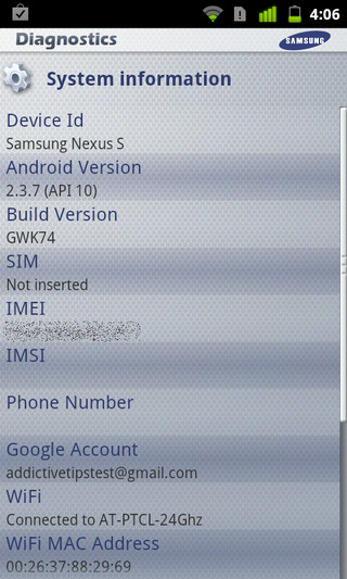 Diagnostics-Android-System-Info