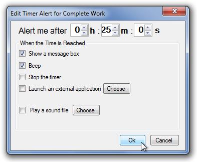 Edit Timer Alert for Complete Work