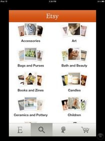 Etsy for iPhone Categories