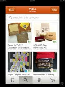 Etsy for iPhone Items