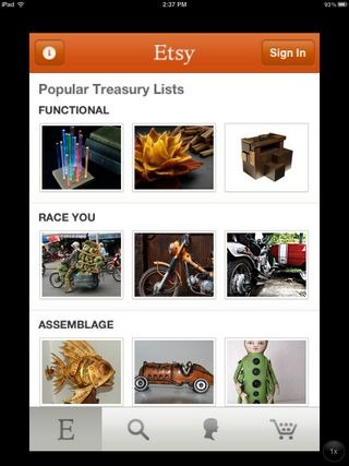 Etsy for iPhone Popular