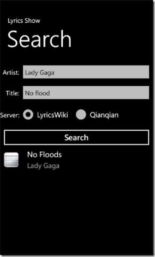 Lyrics Show Search
