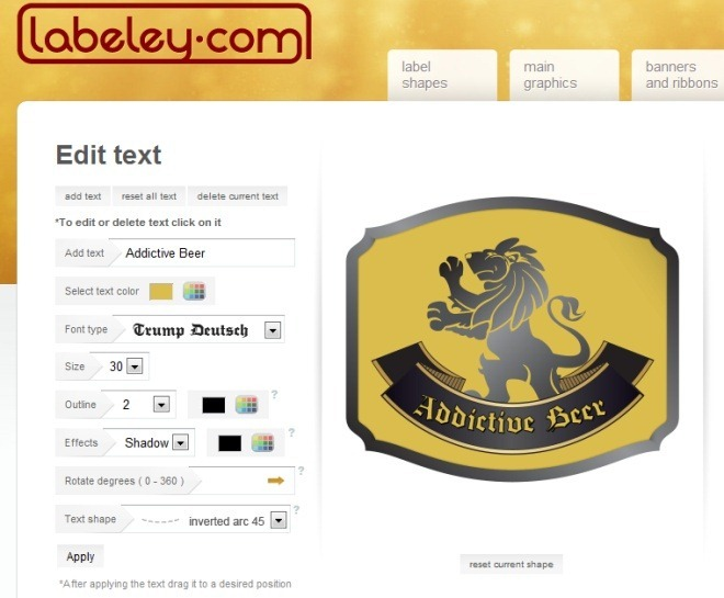Make custom beer labels with labeley