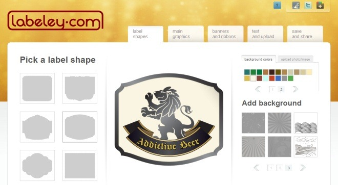 Make custom beer labels with labeley1