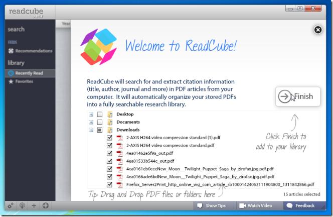ReadCube import folders