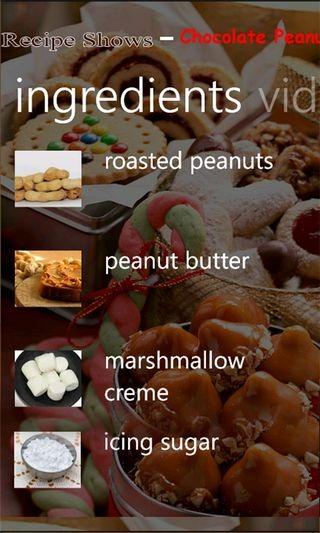 Recipe Shows Ingredients