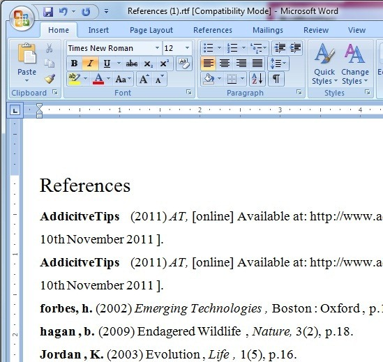 References (uytu1)