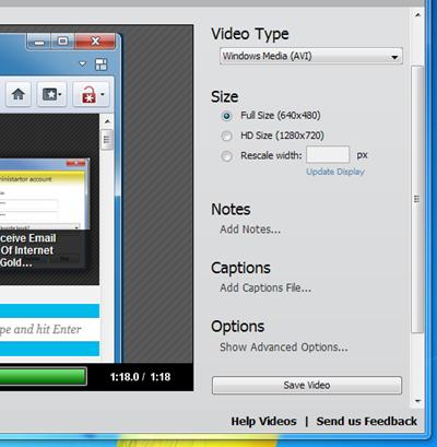 Screencast-O-Matic Save Video