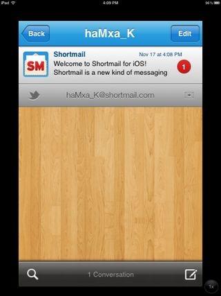Shortmail for iOS Inbox