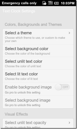 Text_Clock_Lite_Android_Settings