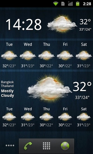 Weather-Services-Android-Widgets
