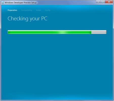 Windows Developer Preview Setup