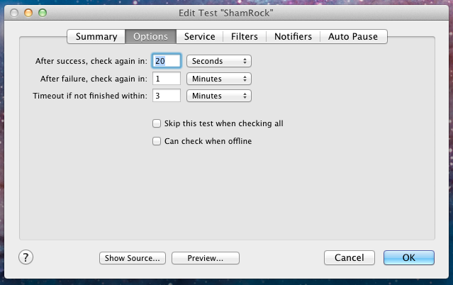 add - edit options