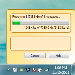 retrieveing messages