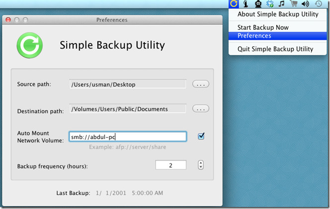 simple backup utility