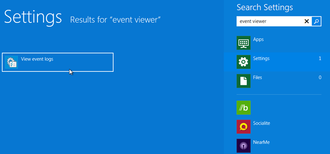 view event logs 1