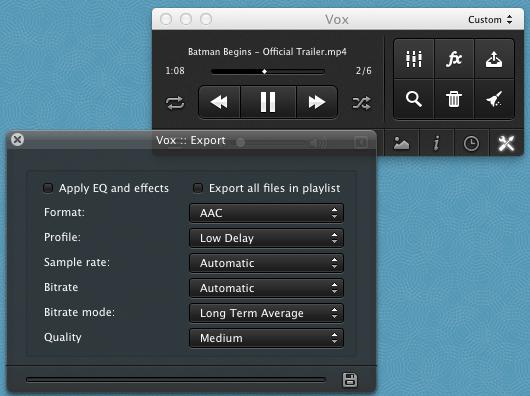 vox settings