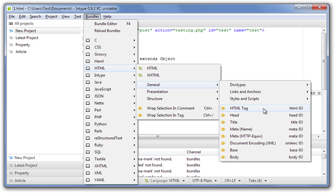 1.html - CUsersTestDocuments - Intype 0.9.2 RC unstable