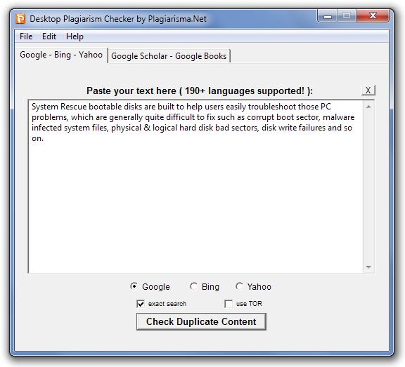 Desktop Plagiarism Checker by Plagiarisma.Net Main