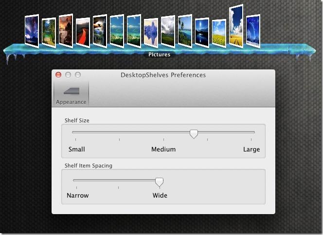 DesktopShelves Preferences