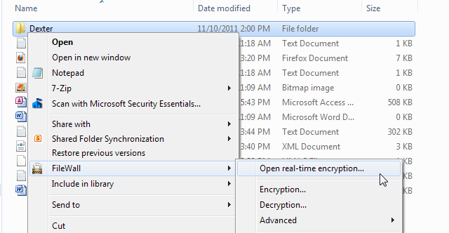 FileWall Real Time Encryption