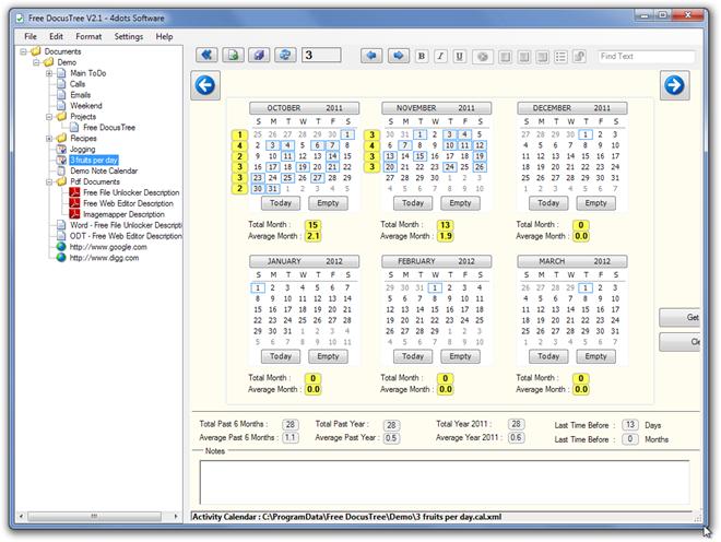 Free DocusTree V2.1 - 4dots Software