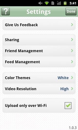 HighlightCam-Social-Android-iOS-Settings