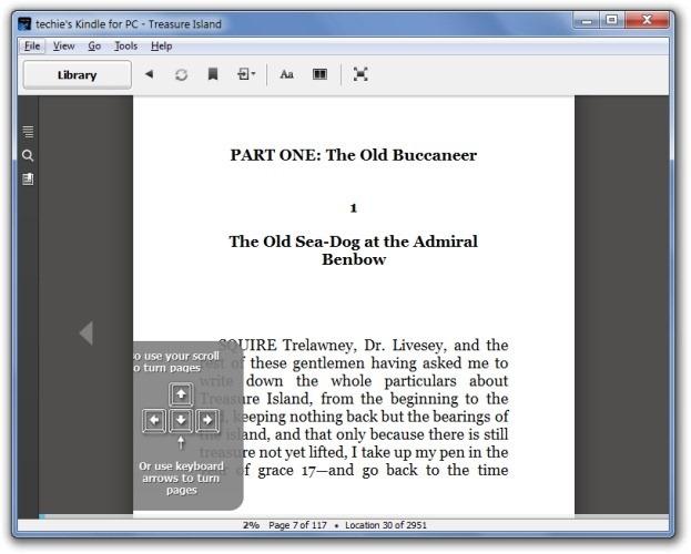 Kindle for PC - Treasure Island