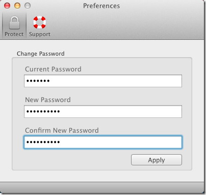 Memo set password