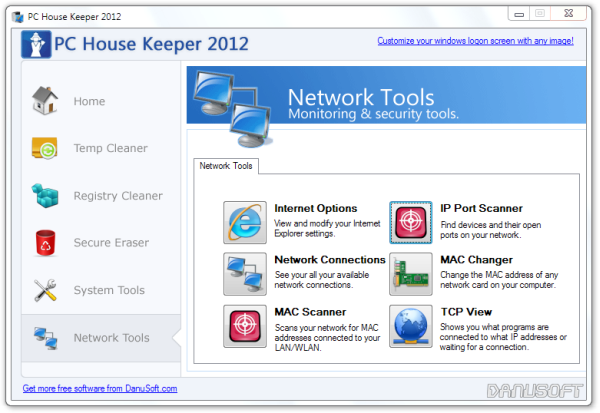 PC House Keeper 2012 Network Tools