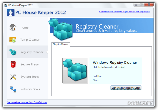 PC House Keeper 2012 Registry Cleaner